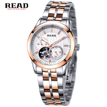 READ Luxury Men Automatic mechanical watches full steel Waterproof women Watch Mechanical watches couple models relogio feminino