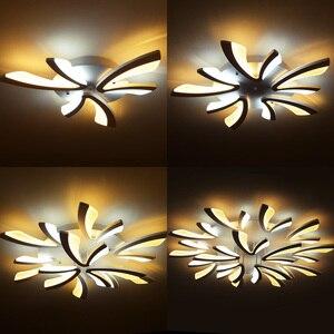 Image 3 - Led ضوء السقف لغرفة المعيشة غرفة نوم أبيض/أسود بسيط Plafond led مصباح السقف تركيبات الإضاءة المنزلية AC90 260V