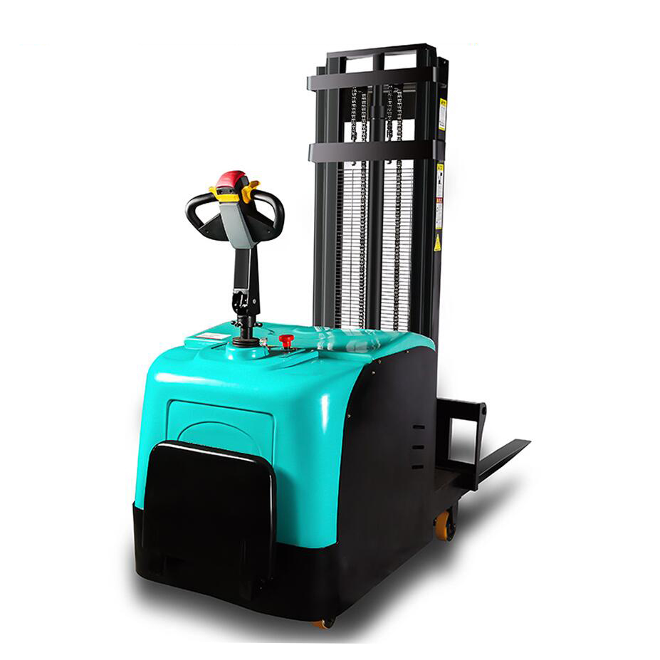 0 75t Small Forklift Electric Stacker Electric Forklift Hydraulic Handling Lift Pile High Car