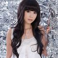 Free shipping USPS to USA Fashion Charming New Long Black Wavy Pony Wigs 150320 w01254