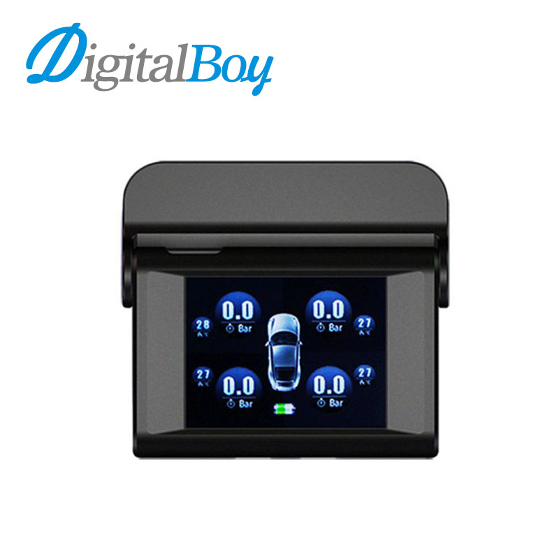Car Solar TPMS with 4 Sensors Tire Pressure Monitoring System Real time Temperature Monitor Alarm System LCD Type Pressure Alarm solar car tpms tire pressure monitoring system 4 external sensor auto alarm system wireless car pressure monitor lcd display