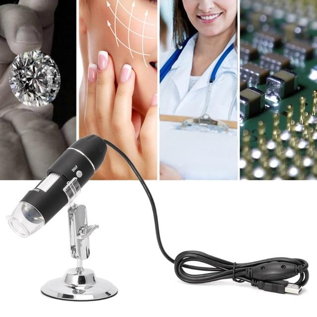 1000X Digital Microscope USB Endoscope 8LED Camera Microscopio Magnifier w stand Drop ShiP