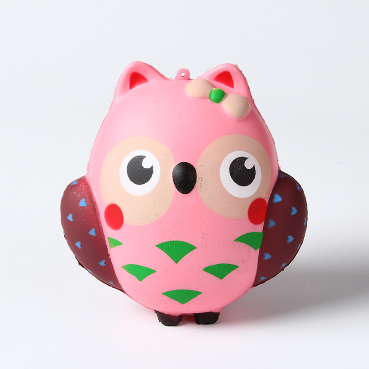 lovely kawaii owl squishy jumbo 12cm simulation fruit fragrance slow rising queeze toys cute squishies animals Children gift ZJD