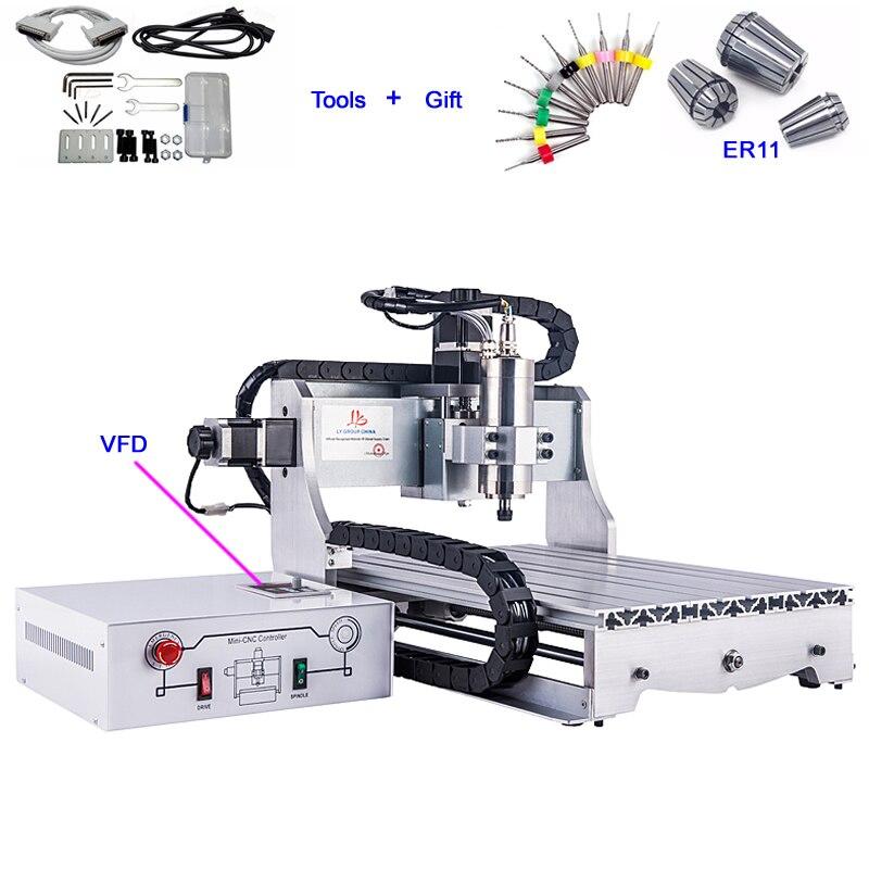 Mini Router di CNC 3040 800 W VFD Macchina Per Incidere di CNC per la Lavorazione Del Legno Taglio dei Metalli MolleMini Router di CNC 3040 800 W VFD Macchina Per Incidere di CNC per la Lavorazione Del Legno Taglio dei Metalli Molle