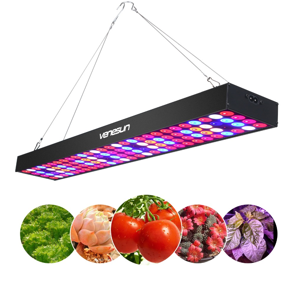 LED Coltiva La Luce a Spettro Completo Venesun 100 w Pannello di Crescere Lampade In Alluminio Fatto per Le Piante Piantina Serra Coperta/Veg /fioritura