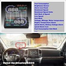 цена на For Toyota Land Cruiser 70 100 200 V8 Roraima - Car HUD Head Up Display  - Saft Driving Screen Projector Refkecting Windshield