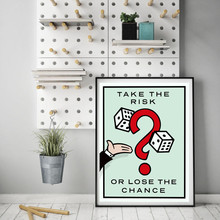 Take The Risk Or Lose Chance Alec Monopolyingly Canvas Posters Prints Wall Art Painting Decorative Picture Modern Home Decor