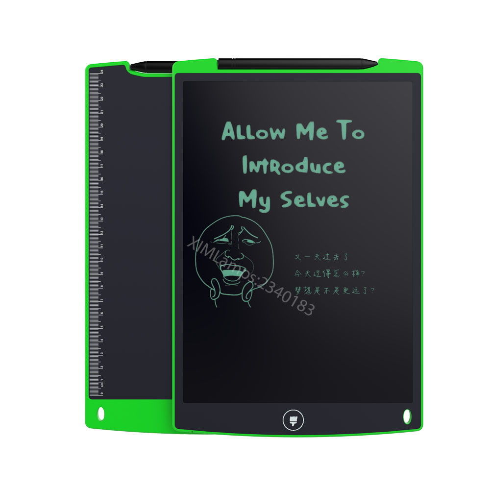 12 Inch LCD Writing Tablet Green Whiteboard Toy Teaching Blackboard for Children Drawing Playing Handwriting Only 4 In Stock 90 106cm onshine adjustable child double side wooden magnetic blackboard whiteboard kids writing drawing toy eraser chalk marker