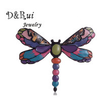 Dragonfly Brooch Colorful Enamel Insect Pin for Women Girl Gift Alloy Womens Wedding Banquet Brooches Pins Accessories 2019 New