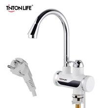 TintonLife EU plug instantané chauffe eau électrique sans réservoir robinet cuisine chauffage instantané robinet avec LED