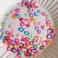 1000 Unidades Paquete de Belleza de Uñas Decoración Del Arte Del Clavo de la Etiqueta engomada 3D Rodajas de Fimo Arcilla del Polímero de La Mezcla Forma de Mezclar Diseños DIY Herramienta de La Belleza