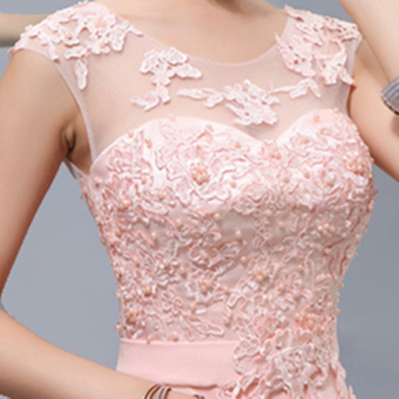 Cheap Bridesmaid Dresses Under 50 Long Plus Size Lace Light Pink ...