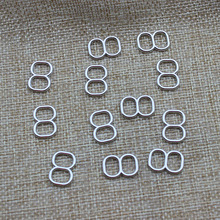 8-Shaped Lingerie Adjustable Sewing Bra Rings Buckles 8 mm 100 pcs/lot Silver