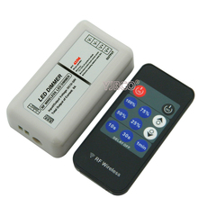 Mini 11 keys RF wireless dimmer Single color led dimmer,DC12-24V 12A remote controller dimming for strip light