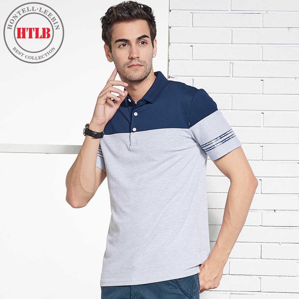 db32d66927f HTLB Для мужчин 100% хлопок футболка-поло Для мужчин Фирменная Новинка 2018  мужские короткий