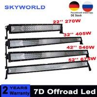 3 Row 22 32 42 52 Straight LED Light Bar Offroad Led Bar Spot Flood Beam Led Work Light Bar For 4x4 Car Truck SUV 12v 24v