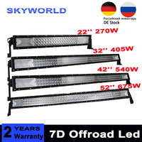3 Row 22 32 42 52 Straight LED Light Bar Offroad Led Bar Spot Flood Beam Led Work Light Bar For 4x4 Car Truck SUV 12v 24v