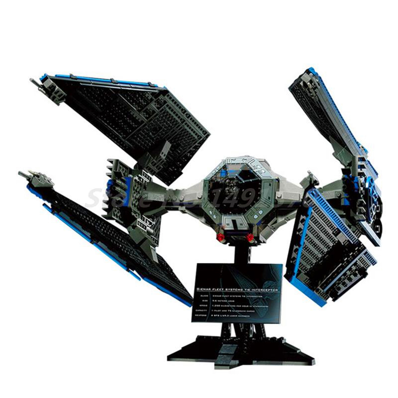 LEPIN 05044 703Pcs Star Wars Limited Edition TIE Interceptor Building Block Toys Figure Gift For Children Compatible Legoe 7181 конструктор lepin star plan истребитель tie interceptor 703 дет 05044