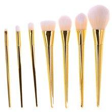 Hot 7pcs/set Makeup Brush Set Pro Foundation Cosmetic Powder Brushes Kits Contour Eyeliner Makeup Brushes Tool Superior Soft