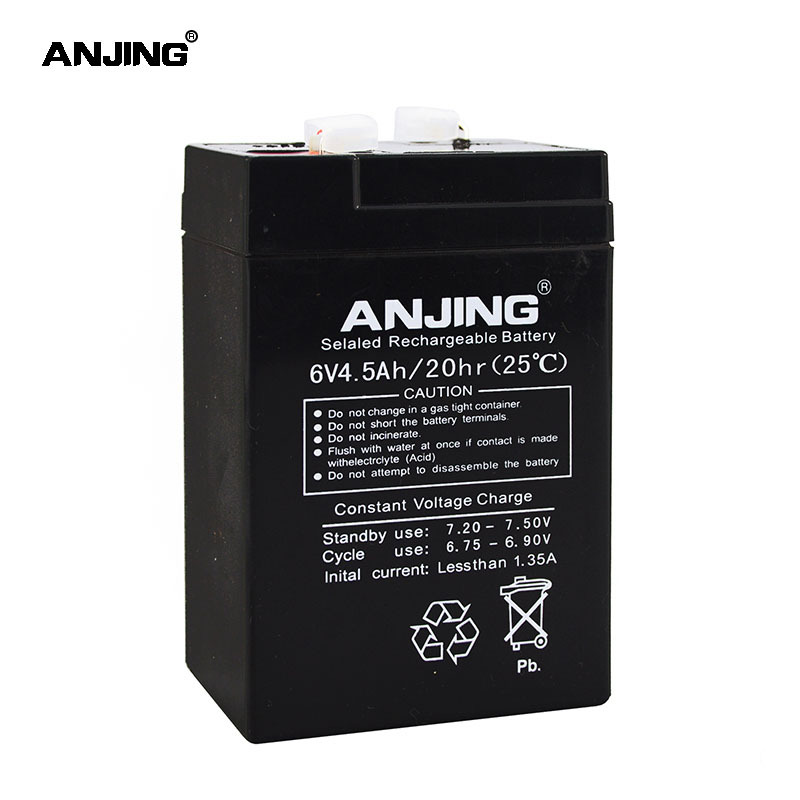 6V 4.5AH Battery For Backup Power LED Diode Emergency Light Children Toy Car Lead Acid Battery Replacement