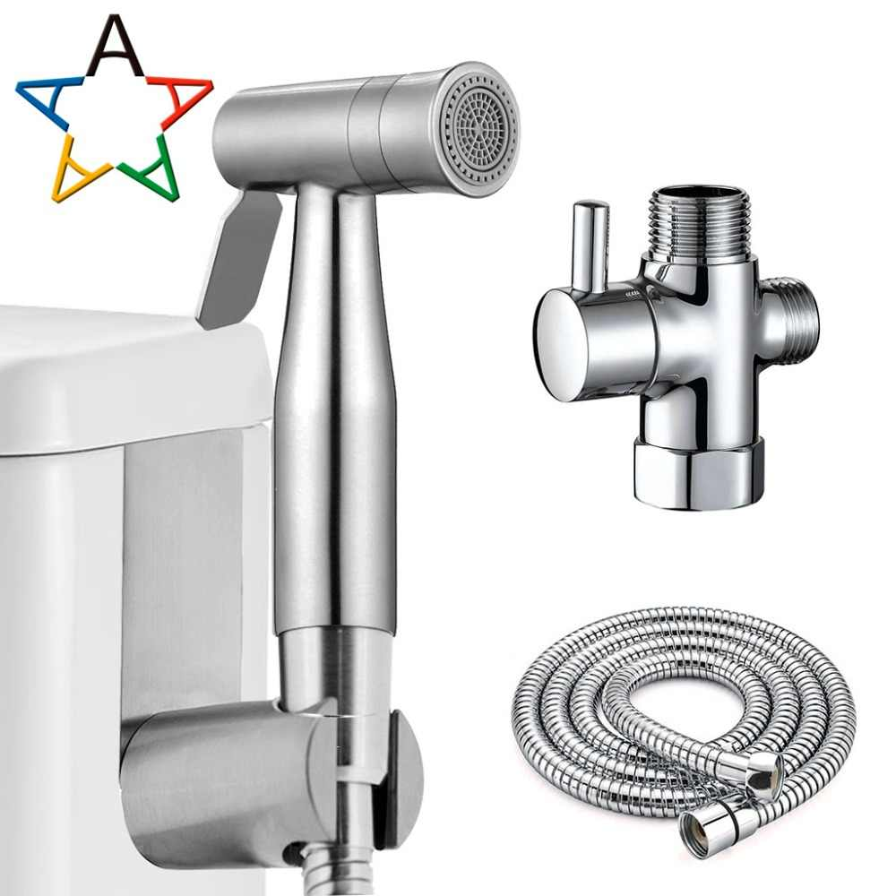Brilliant Stainless Steel Toilet Bidet Tap Set Handheld Hygienic Bralicious Painted Fabric Chair Ideas Braliciousco