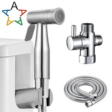 Stainless Steel Toilet Bidet Tap Set Handheld Hygienic Shower Portable Sprayer Gun Seat Hand Held Spray by Atalawa
