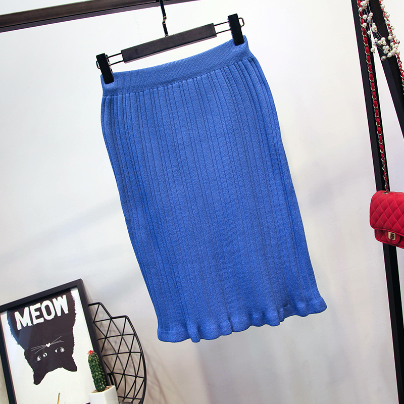 Nouveau Top Black Automne Hip Dames De Col Crayon Jupe Costumes Mode Tops Hiver En Femme Définit V Jupes À Tricoter Slim blue Volants Et Élégant lF1cTKJ