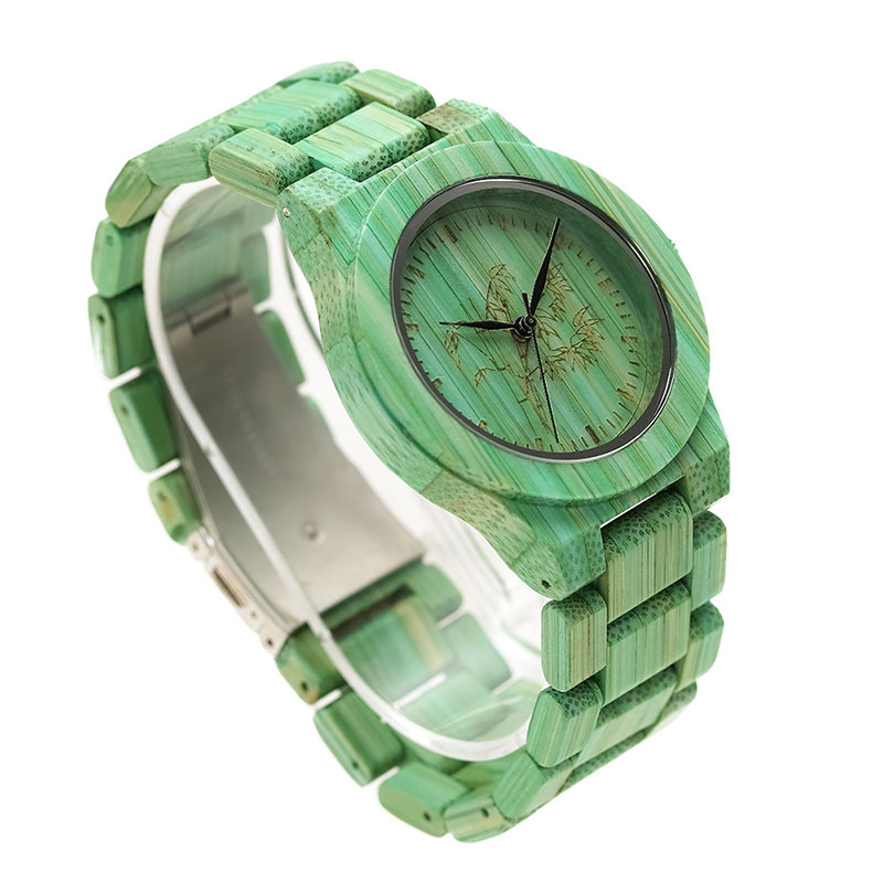 Quartz-Watch Wooden-Strap Wrist Gift Round Women Fashion Lady Colorful SSA-19ING 1pcs