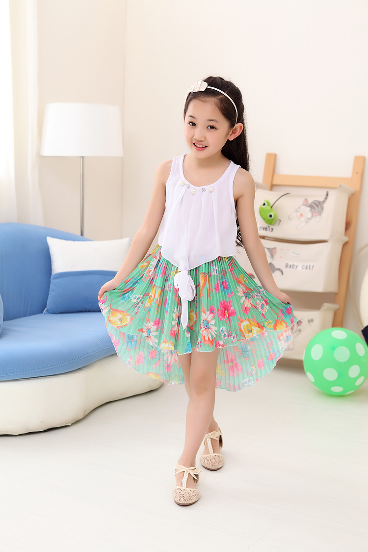 Retail New Summer Kids Girl Chiffon Dresses Floral Beach Dress Children  Casual Clothes Baby Girls Fashion Costume Size 2 13T in Dresses from Mother    Kids. Retail New Summer Kids Girl Chiffon Dresses Floral Beach Dress