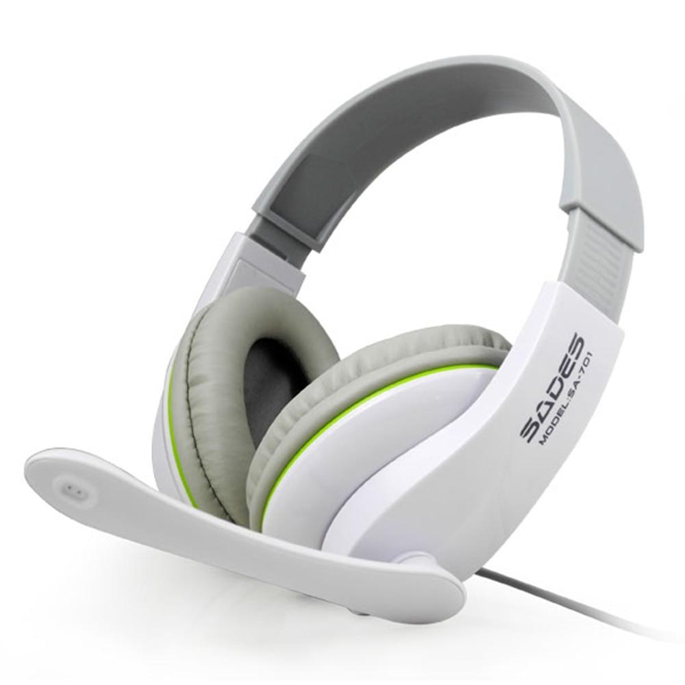 Wcg 2013 Designated Gaming Headset Original Genuine Sades Sa 701 T Power Professional Headphone With Microphone Blackwhite In Earphones Headphones From