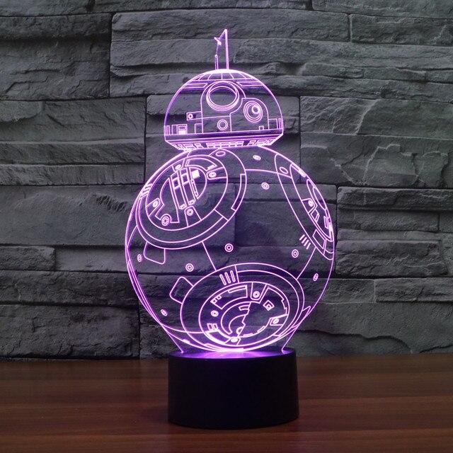 Star Wars Fancy 3D lamp  best Christmas New Year  Gift For Best Friend Keychain