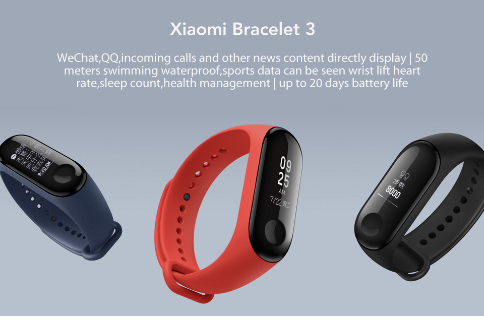 In Stock! Original Xiaomi Mi band 3 Xiomi Heart Rate Monitor Bluetooth 4.2 Xaomi Smart Sport Bracelet OLED Miband 3 Smartband  (1)