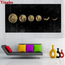 3D Diamond Embroidery Large Eclipse of The Moon landscape Picture Of Rhinestone DIY Diamond Painting Cross Stitch mosaic decor(China)