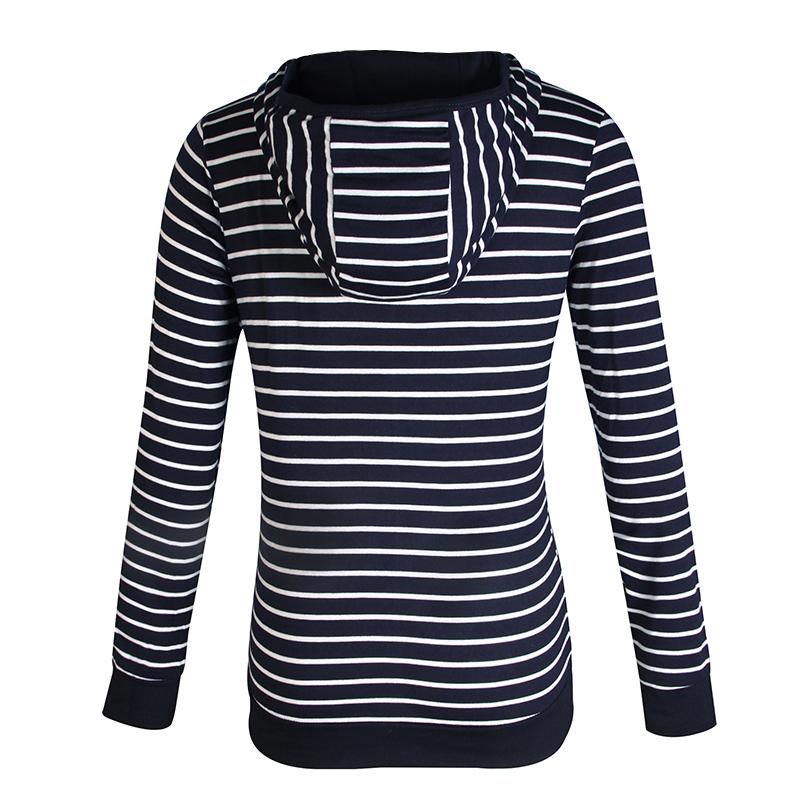 Moda damska Stripes Casual Zipper Bluzy Z Kapturem Kieszeni Kobiety Bluza Plus Rozmiar S-5XL LJ7847R 4