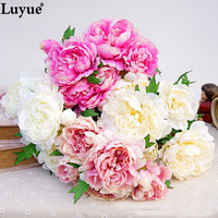 5 Heads Artificial Peony 1 Bouquet High Quality Silk Wedding Flowers Home Party Decoration Centerpiece Flower