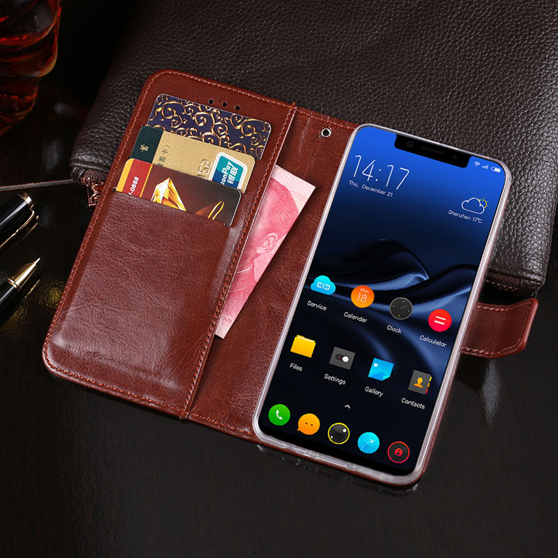 Luxury Vintage PU Leather Flip Cover For Elephone A4 Case