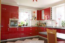 Современный глянцевый/лаковый кухонный шкаф (стандартный)