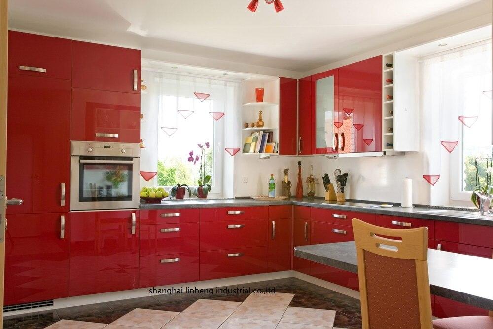 Haute brillant/laque armoires de cuisine mordern (LH-LA070)
