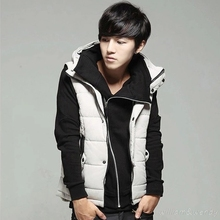 Men White Black Winter Down Coat Vest Jacket Parka Hoody Cardigan China Cheap Winter Slim Ultra Light Clothing Manteau Homme Top