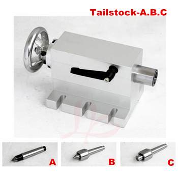 CNC Tailstock Rotary Axis A Axis 4th Axis suitable mini cnc Milling Machine cnc 4th 5th axis rotary table diy cnc machine milling router parts b axis rotation axis for cnc engraving machine