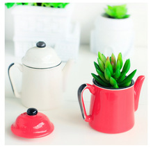 New Fleshy Ceramic Flower Pot Creative Plant Pots Basin Manual Ceramic Glazed Planter Pottery