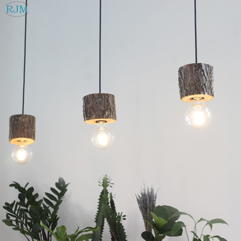 American Country Loft Industrial Style Restaurant Internet Cafe Bar Creative Retro Linen Lampshade Chandelier Lights & Lighting Ceiling Lights & Fans