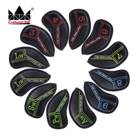 Colorful Golf Iron Covers Club Headcovers Embroidery Color Marking 12PCS 3 4 5 6 7 8 9 AW SW PW LW LW Club Fit MP JPX AP2