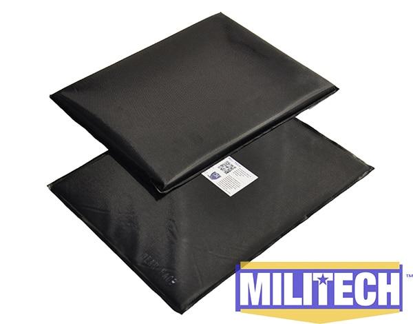 Bulletproof Aramid Ballistic Panel Bullet Proof Plate Inserts Body Armor Backpack Armour NIJ Level IIIA 3A 11'' x 14'' Pair Set