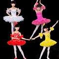 Menina Traje Crianças Lantejoulas Cisne Branco Lago Ballet Tutu Dança Vestido Crianças Dança Collant Dancewear Menina Allet Vestido Roupas 89