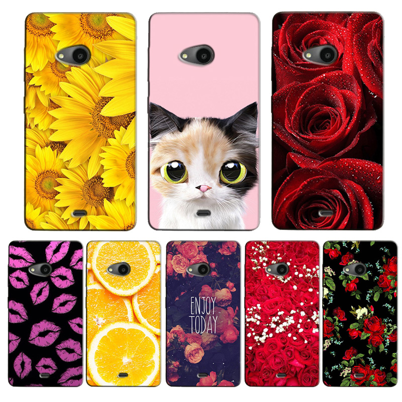 For Nokia Lumia 535 Case Fashion Cartoon Painting Drawing Has
