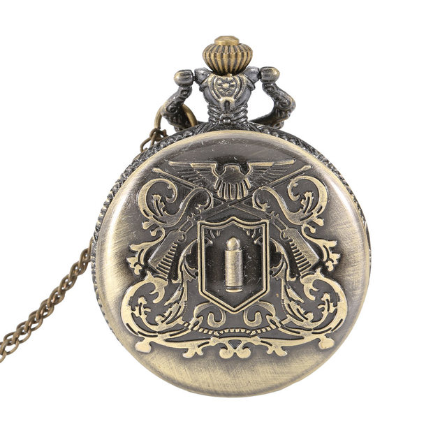 New Timer Vintage Retro Alloy Pocket Watch Men Women Necklace Pendant Chain Watc
