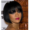 Short Black Bob Wigs African American Short Wigs For Black Women Black Womens Wigs Hairstyles Heat Resistant Synthetic Wig