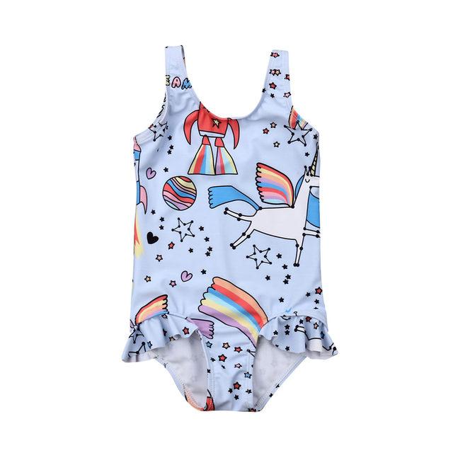 0-5T Kids One-piece Swimsuit Toddler Kids Baby Girls Cartoon Bikini Swimwear Swimsuits Bathing Suit Beachwear 13
