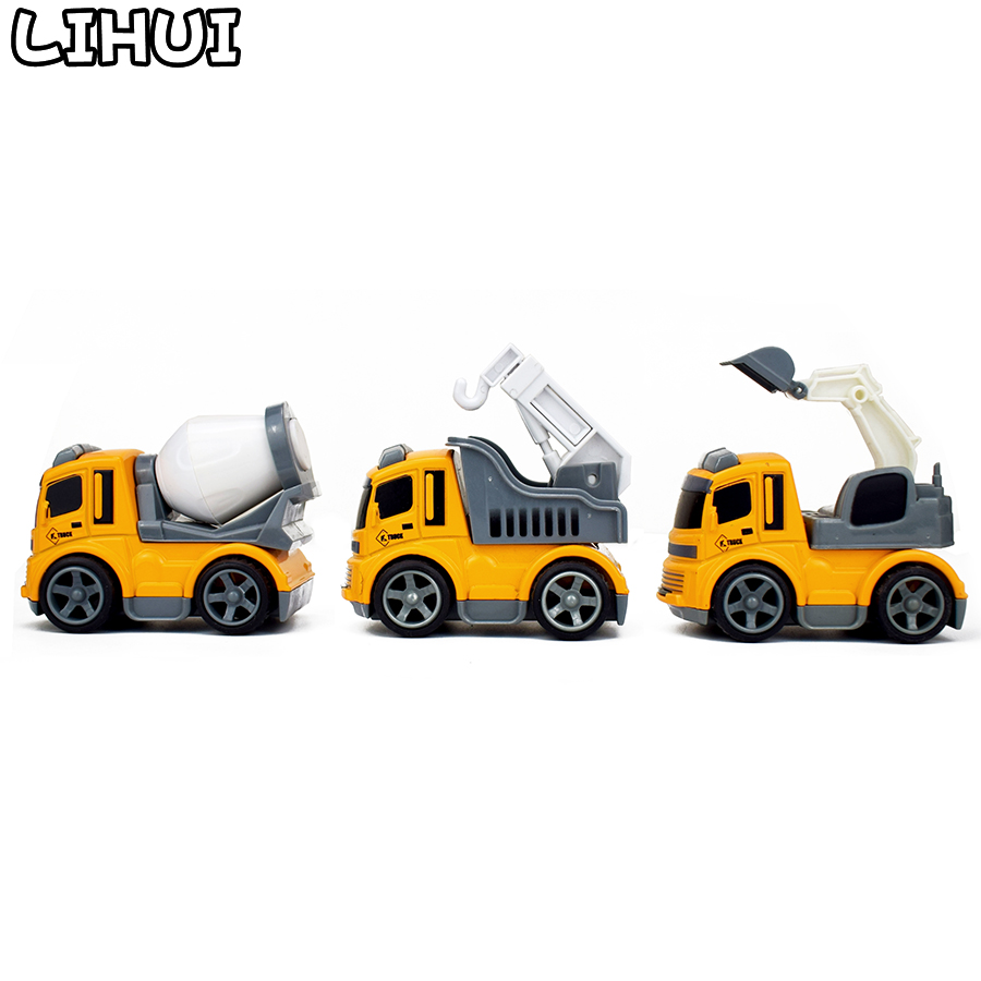 Hot Sale 3 Kinds Inertial Engineering Vehicles Mini Model Toy